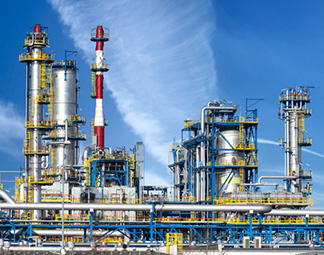 Petrochemical plant oil refinery